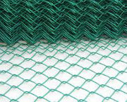 Plastic coated chain-link mesh